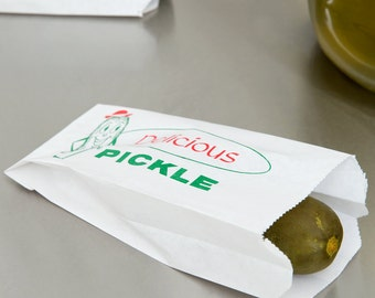 50 PICKLE Paper Bags for Party Night, Concession Stands, BBQ, Birthday, Wedding
