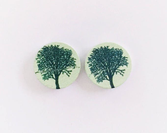 The 'Sia' Wooden Handpainted Earring Studs