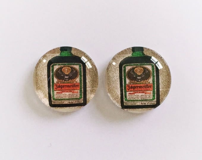 The 'Jager' Glass Earring Studs