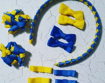 Custom Made School Hair Bow Accessory - Basic Pack
