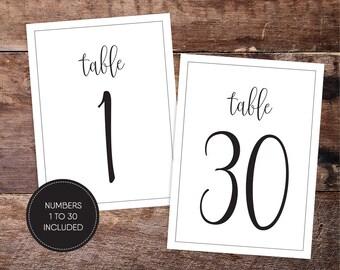 Printable Table Numbers/ Wedding Table Numbers/ Wedding Printable/ PDF/ Download/ Custom/ Elizabeth suite #049-08