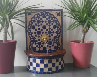 Mini fountain Zellige handmade functional Handicraf