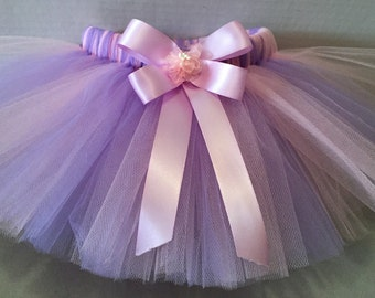 PINK AND LAVENDER Tutu, Pink Tutu, Tutu Skirt, Infant Tutu, Tutu for Babies, Newborn Tutu, Tutu and Hairbow, Lavender Tutu, Birthday Tutu