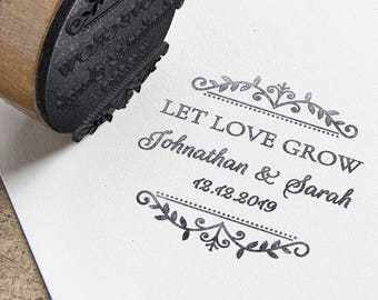 Personalised Wedding Self Inking Rubber Stamp - 5 Different Phrases to Choose From!