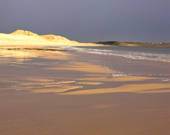 Storm Clouds over Embleton Bay, Northumberland, photograph, print
