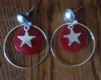 Star and sequin earrings