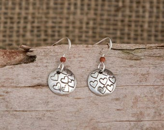 Flock of Hearts Dangle Earrings
