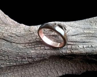 Wenge-Copper Bentwood Ring