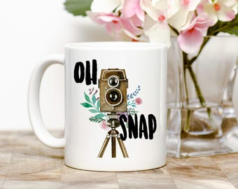 Oh Snap Photography Tea or Coffee Mug (2 Sizes Available)