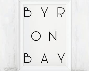 Byron Bay, Byron Bay Australia, Cape Byron, Byron Bay Poster, Byron Bay Print, Australia Printable, Australia Wall Art, Australia Poster