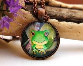 Frog Art Pendant