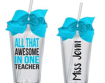 Personalized Teacher Gift ~ Teacher Tumbler ~ Teacher Gift