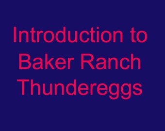 Baker Ranch Thunderegg Intro