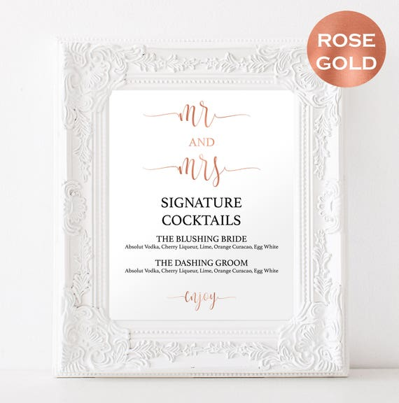 Signature cocktails for weddings