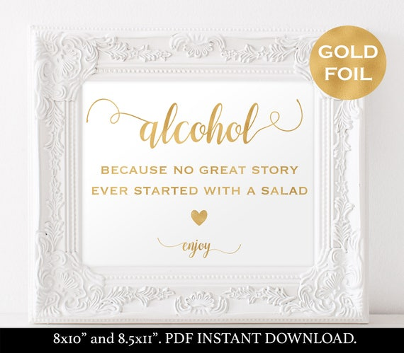 Wedding Drink Sign Template