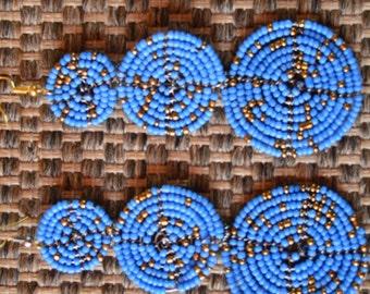 African Maasai Beaded Earrings | Dangle earrings | Multi color Earrings | Elegant Earrings | Gift for Her
