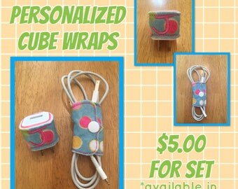 cord and personlized cube wraps