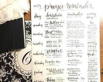 "Half-size Lord's prayer weekly prayer guide 5"" x 8"""