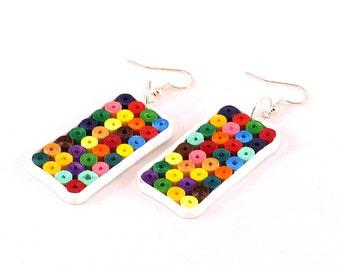Ajfoniki - quilling smartphone earrings