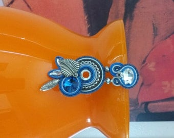cornflower blue soutache earrings