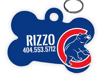 Chicago Cubs Custom Personalized Pet ID Tag for Dog