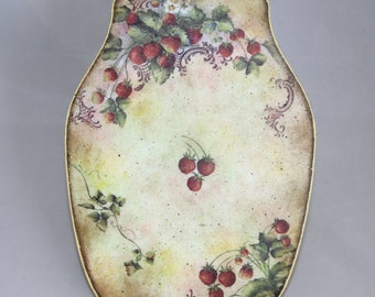 Strawberry chopping board, kitchen decor, home decor, sweet berries