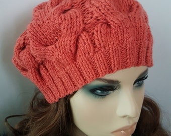 Knit Hat ,Beanie, Slouchy Beret .