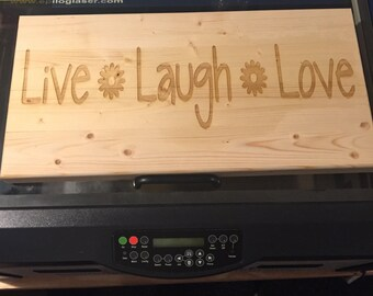 Live Laugh Love Engraved Sign