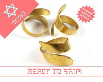 Brass Ring Blank, Raw Brass Adjustable Ring Blank, Jewelry Foundation, Minimalist Blank, Brass Blank, Fundamentals, Jewelry Supply
