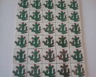 MEXICAN TALAVERA TILES X 30 ( 5cm x 5cm each )