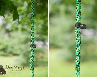Slip Lead - Rope leash - Emerald