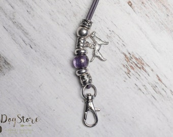 Luxury lanyard - Gundog whistle lanyard - Purple