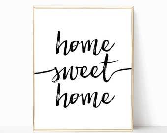 home sweet home print, printable art, wall decor, home decor, wall art, printable wall art, home art print, digital download, art print