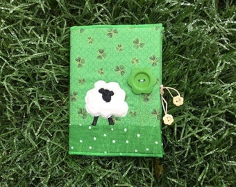 Irish sheep quilted notebook cover