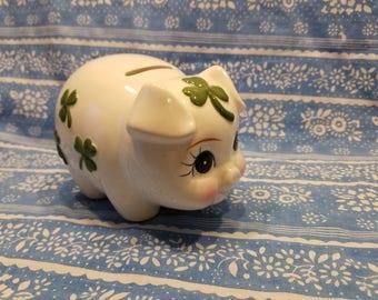 Lefton Clover piggy bank