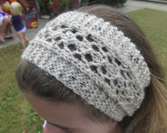 Hand Knit Head Band in Oatmeal