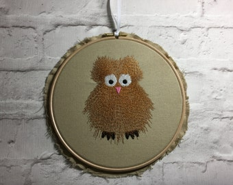 Shabby Chic Owl Wall Hanging
