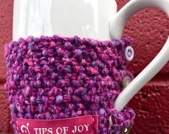 Cup Cozy; Coffee Cozy; Knit Coffee Cup Warmer; Cup Warmer; Cozy