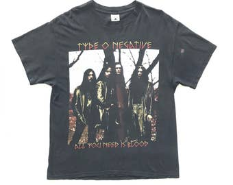 1996 Type O Negative vintage band T-shirt - L - Paradise lost, moonspell, life of agony, pete steele