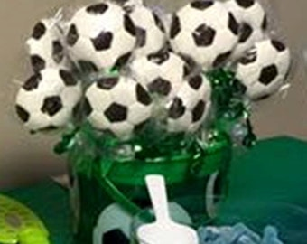 1 doz 12 Soccer theme Chocolate lollipops bar Mitzvah, Birthday Party Sports theme