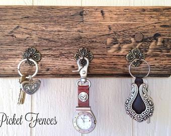 Key Hook Wall Plaque, Key Rack, Key Holder,  Rustic Key Rack, Wood Key Holder, Entry Way Key,  Key Organizer, Wood Wall Plaque