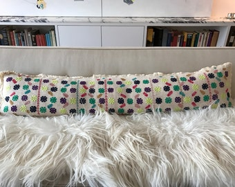 Custom Embroidered Pillows! Complete with down insert -- ready for your sofa!!!