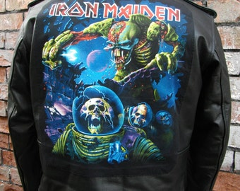 Metalworks Iron Maiden 'Final Frontier' Leather Jacket