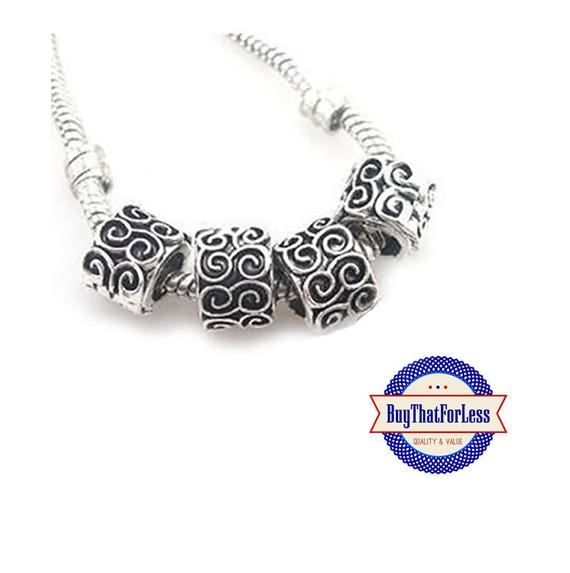 """Swirl """"Carved"""" Beads, 6 pcs **FREE Shipping with orders 10 dollars+ **"""