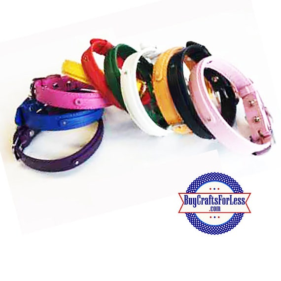 PERSONALIZE Pet (or People) Collars for Slider Letters and Charms, 8 colors, LARGE +FREE Shipping & Discounts*