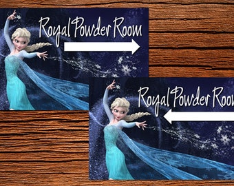 Frozen bathroom signs (this is not a licensed product)