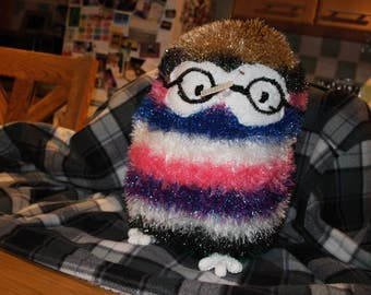 Hand Knitted Soft Toy Owl