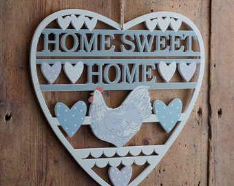 Wooden Kitchen Sign Home Sweet Home