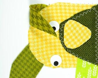 Dog Handmade Fabric Card
