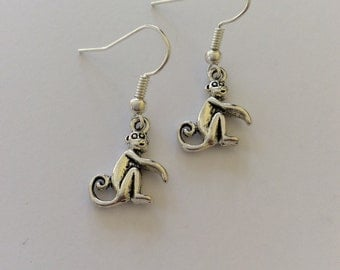 Monkey earrings / monkey jewellery / animal jewellery / animal lover gift